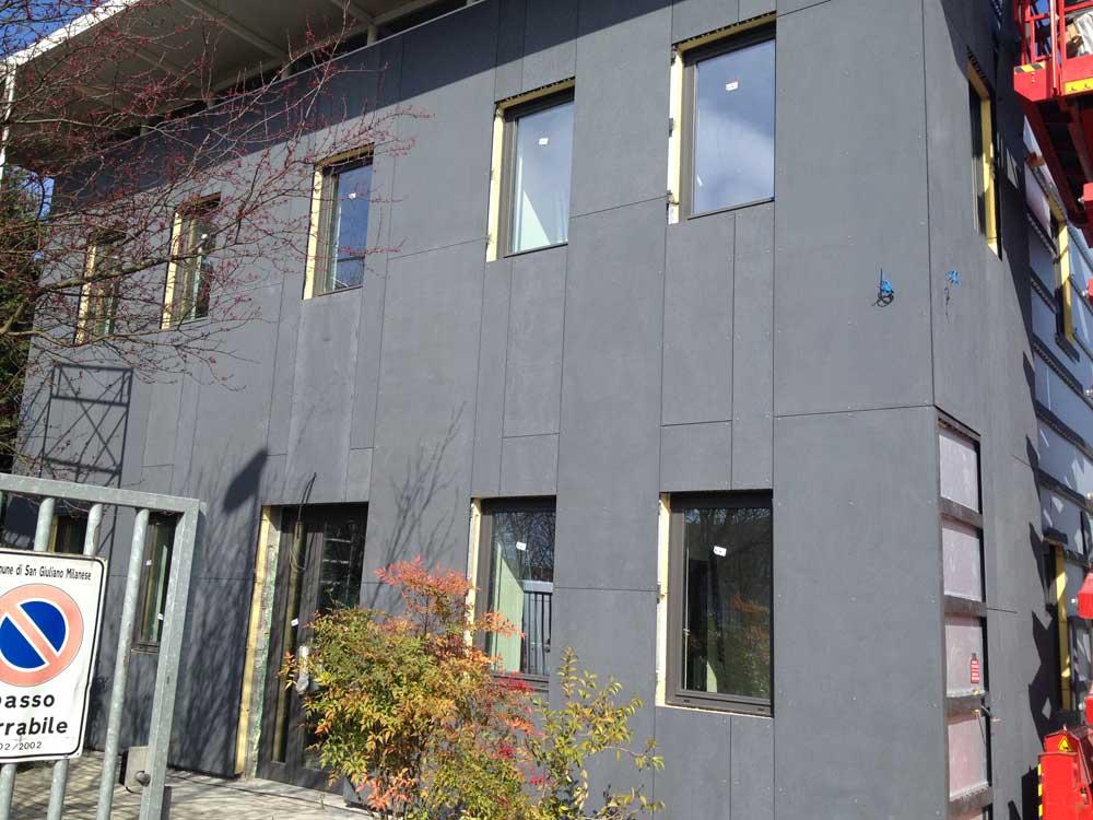 Facciate ventilate per la finitura di edifici civili for Piano di progettazione di edifici commerciali